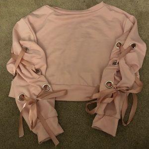 Pink tied shirt